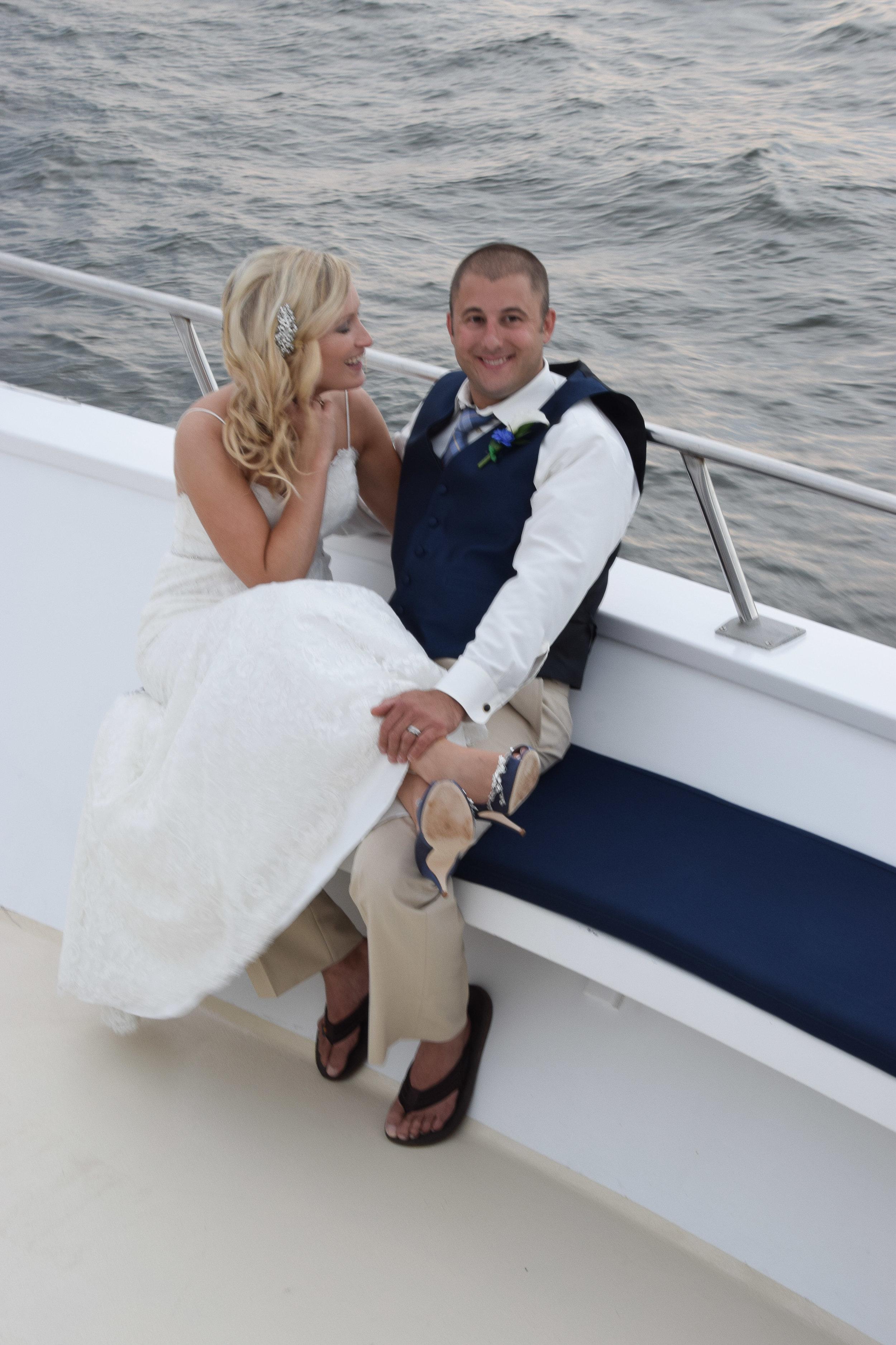 Candid shot of Bride and Groom, Carolina Girl...Charleston, SC.