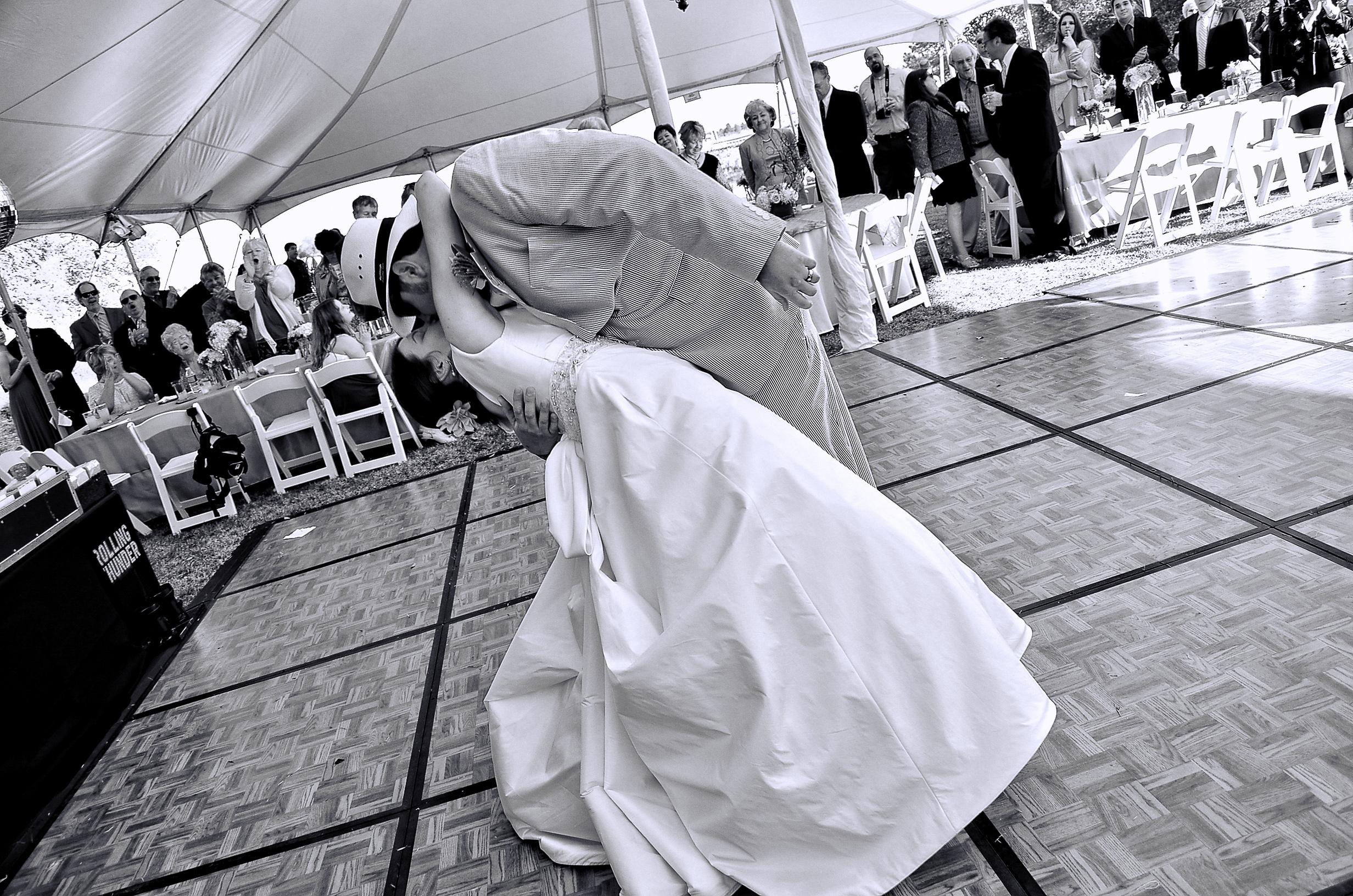 First dance dip.