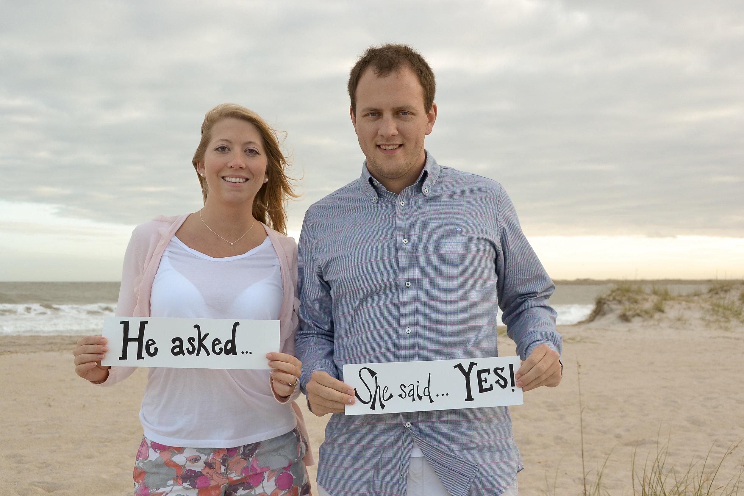 Engagement session on Masonboro Island, NC.