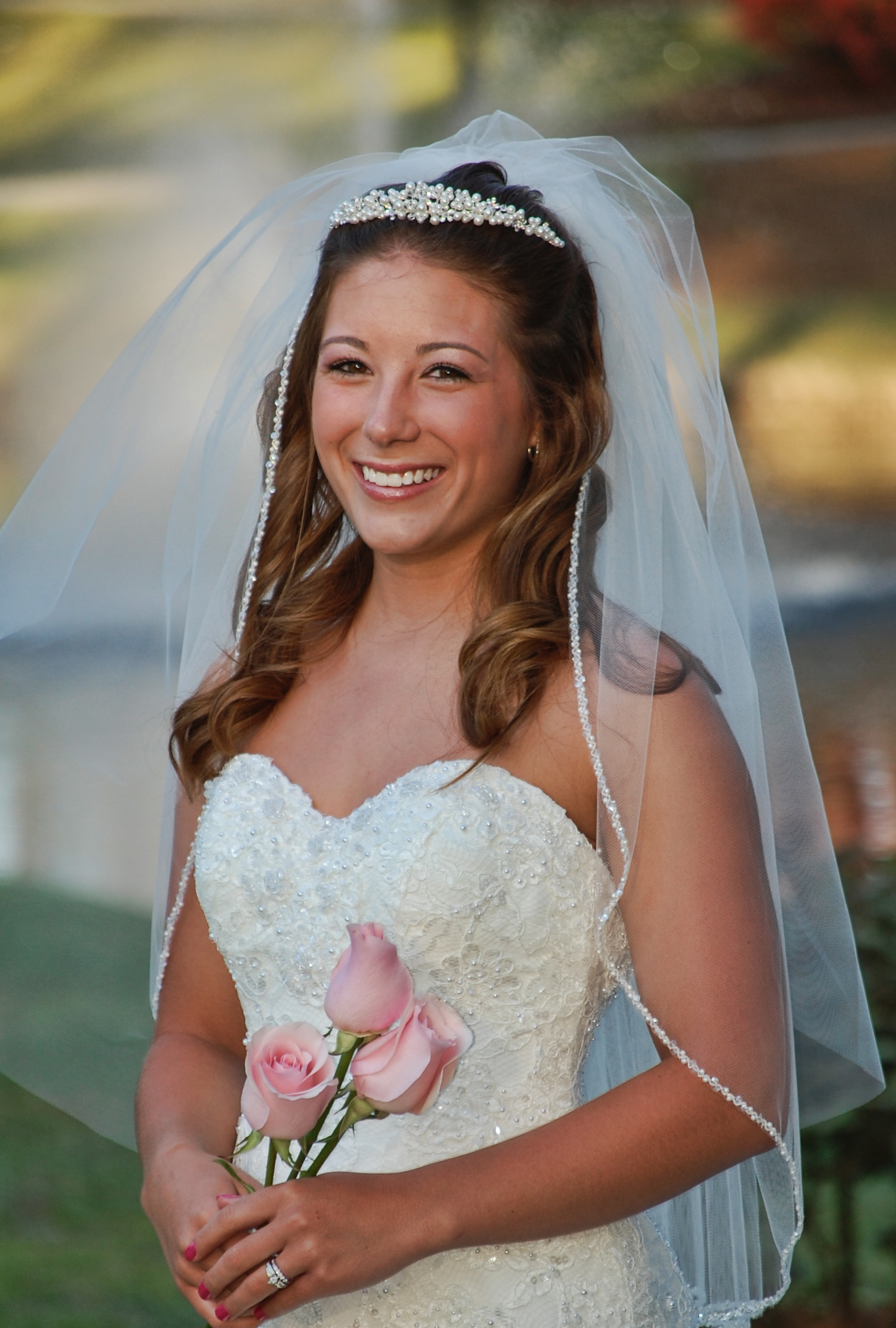 Bridal portrait, Hugh McRae Park, Wilmington, NC.