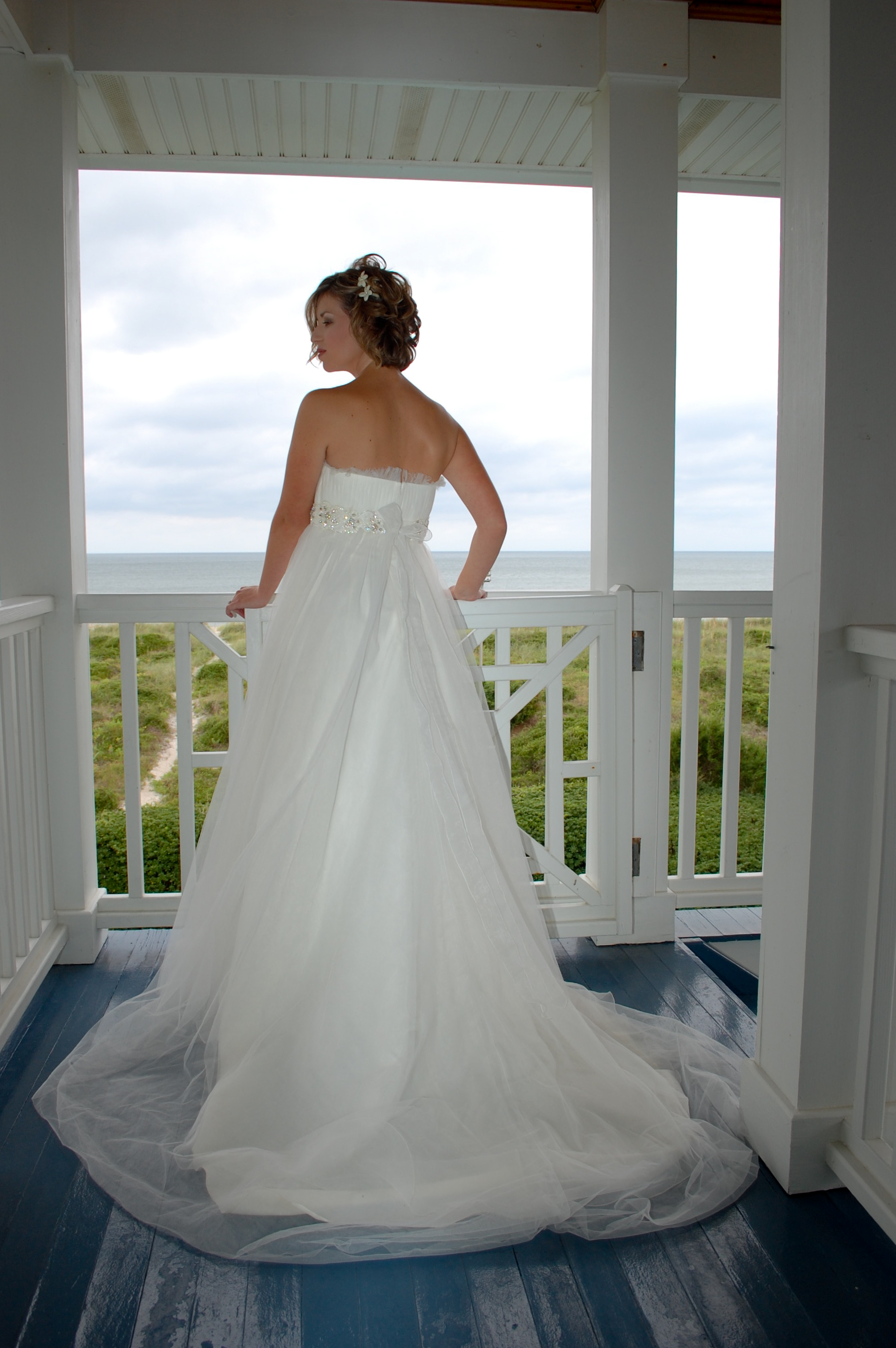 Bridal portrait, Wrightsville Beach, NC
