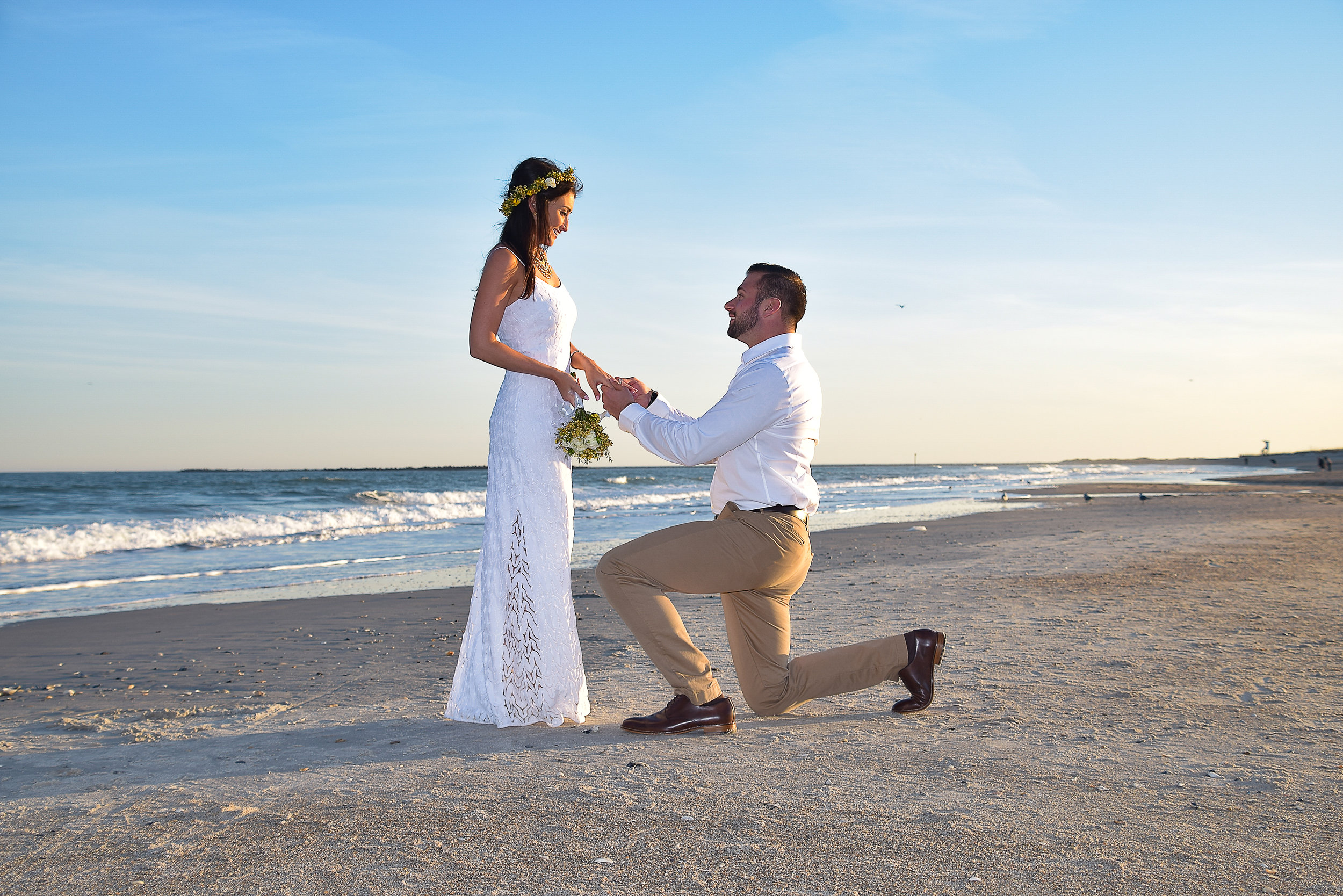 - Reenacting the proposal on Wrightsville Beach, NC.