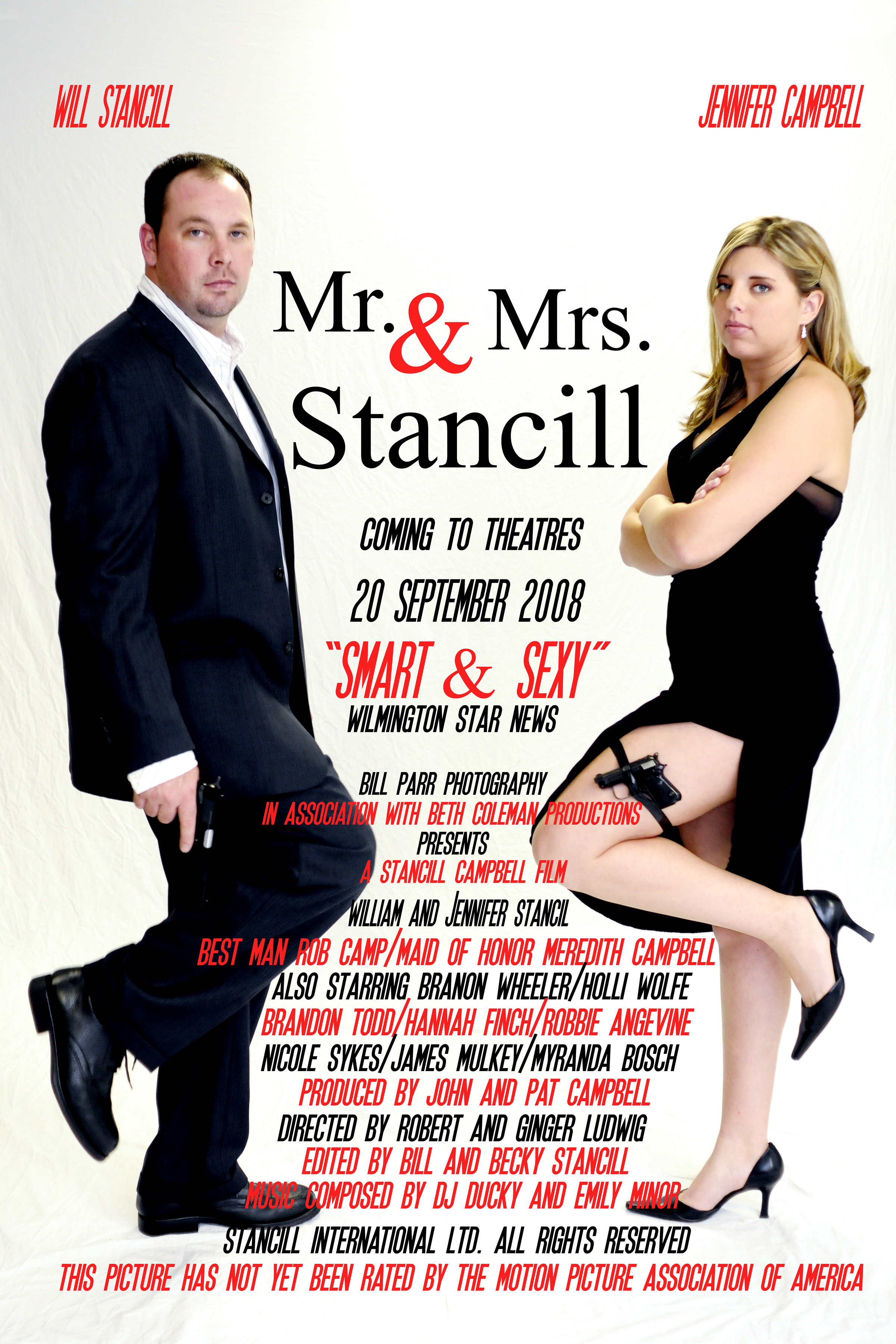 Wedding Movie Poster. Mr. and Mrs. Smith.