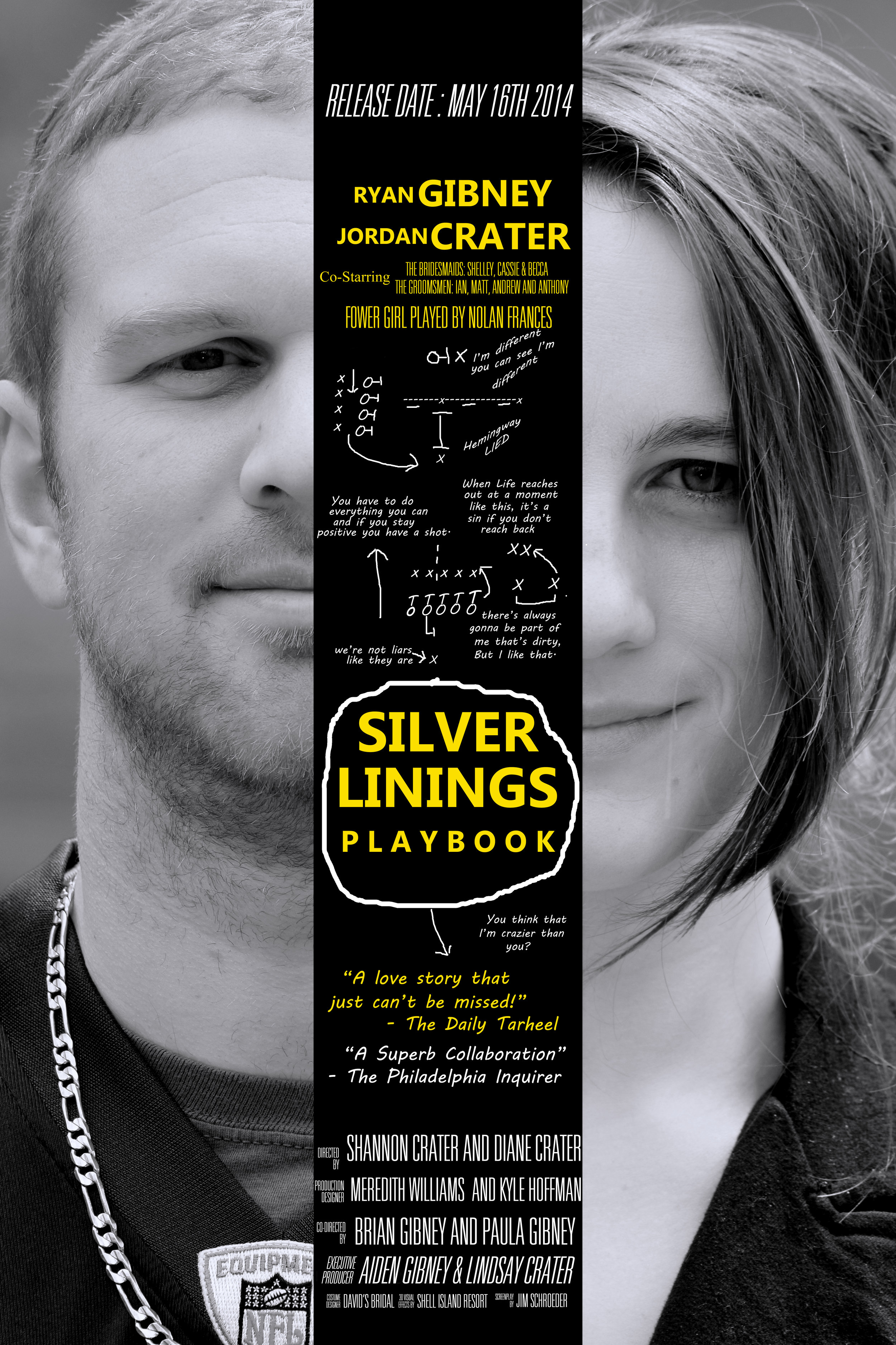 Wedding Movie Poster. Silver Linings Playbook.