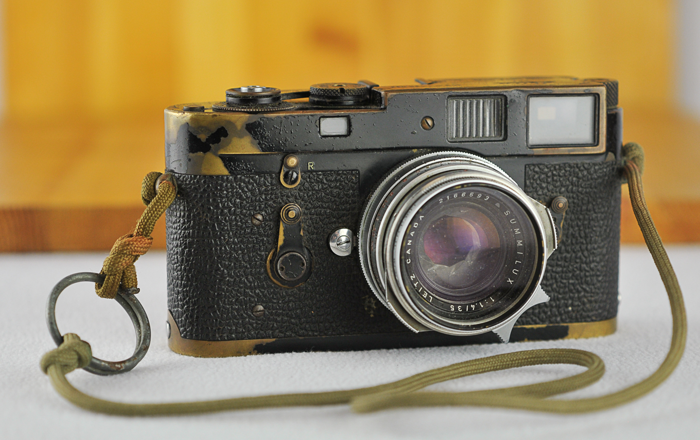 - Sean Flynn's camera, a Leica M2. Note the Grenade Pin on the strap.
