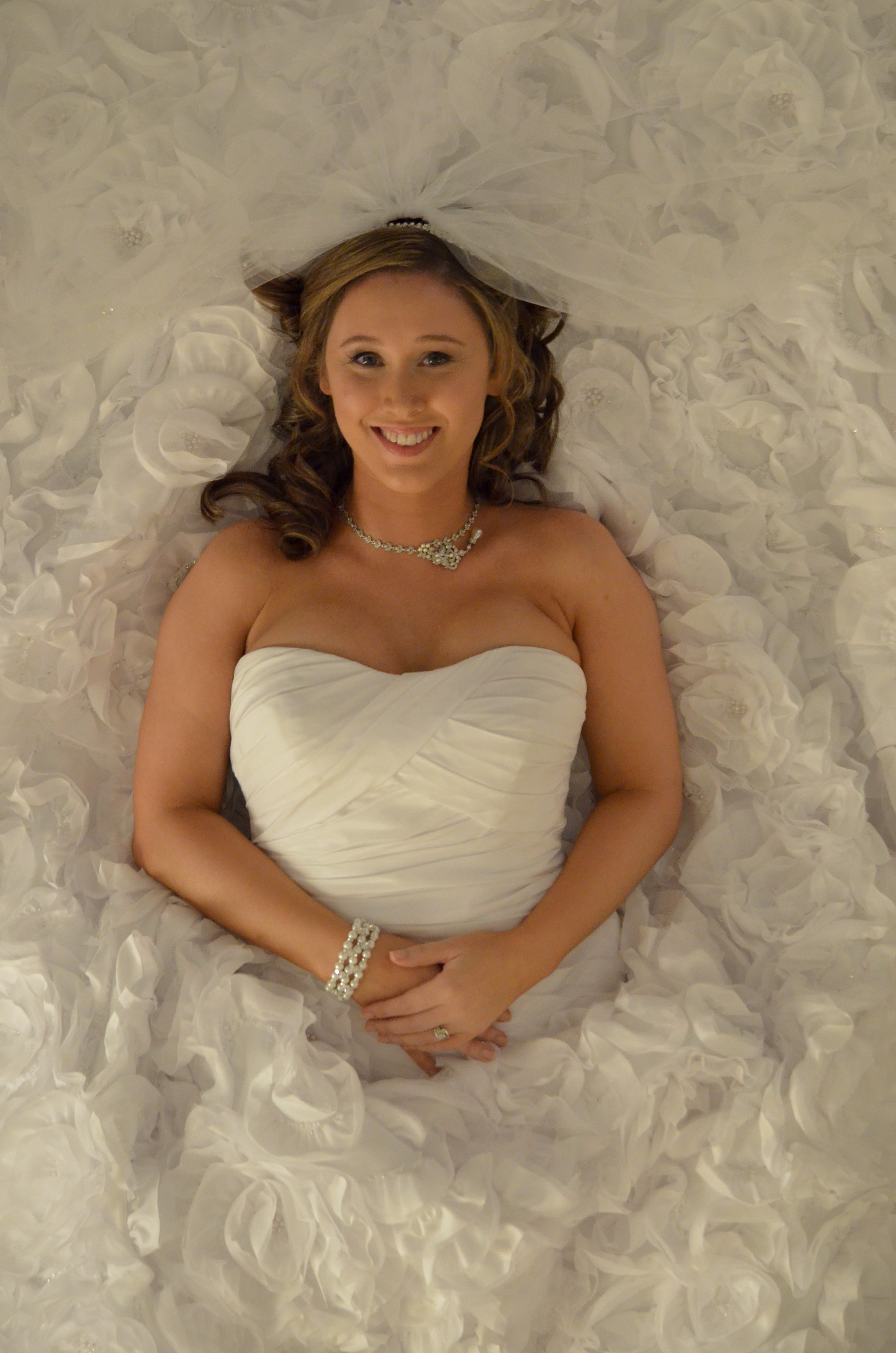 - Bridal portrait taken from the balcony at Saint Thomas Preservation Hall. Wilmington, NC. Billy Beach Photography.