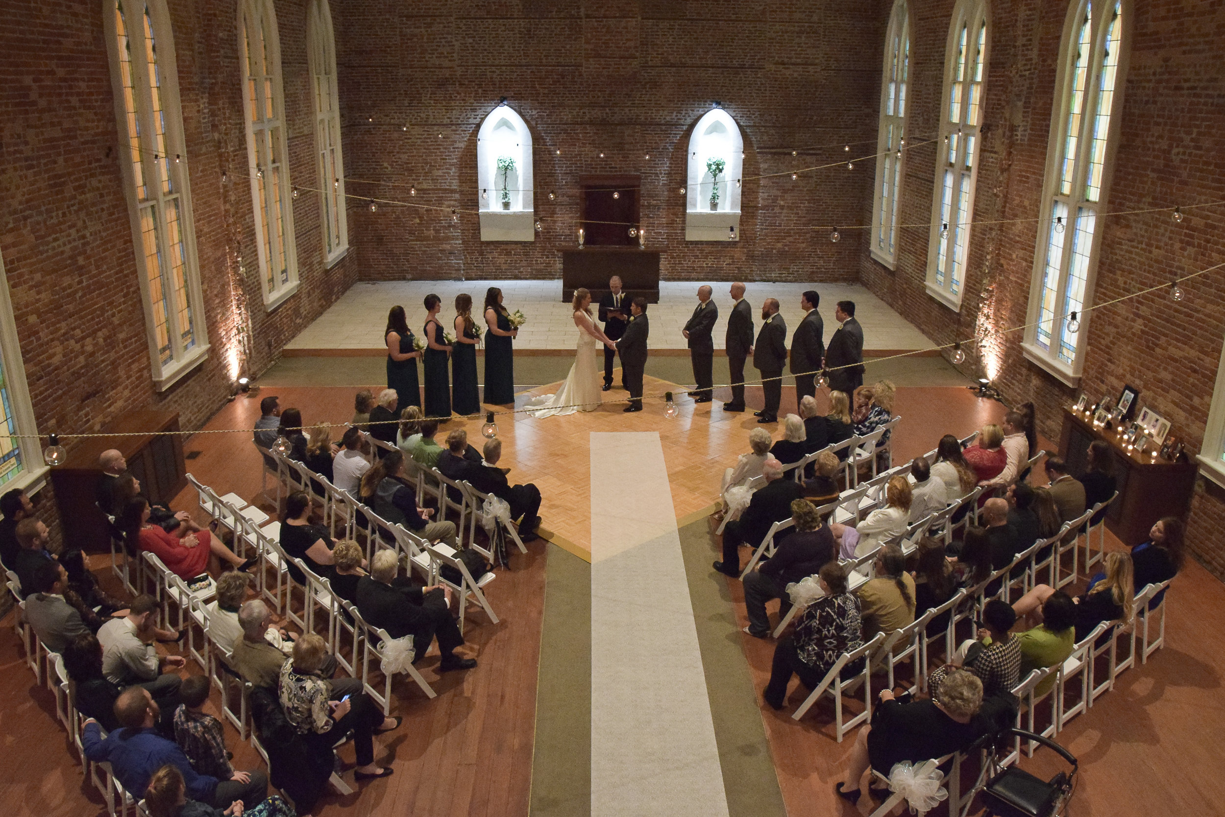 - Wedding Ceremony at St. Thomas Preservation Hall in Wilmington, NC. Billy Beach Photography.