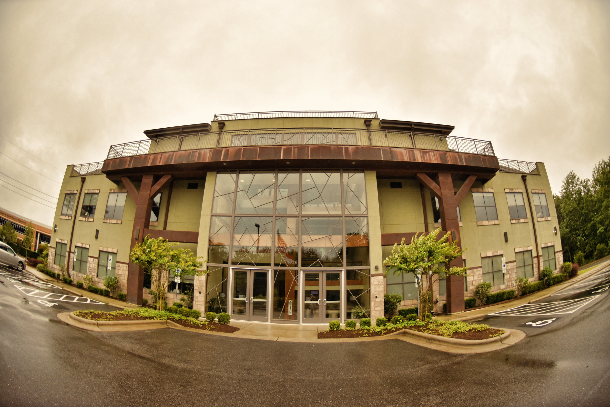 Fisheye - Fisheye perspective of the Terraces on Sir Tyler in Wilmington, NC.