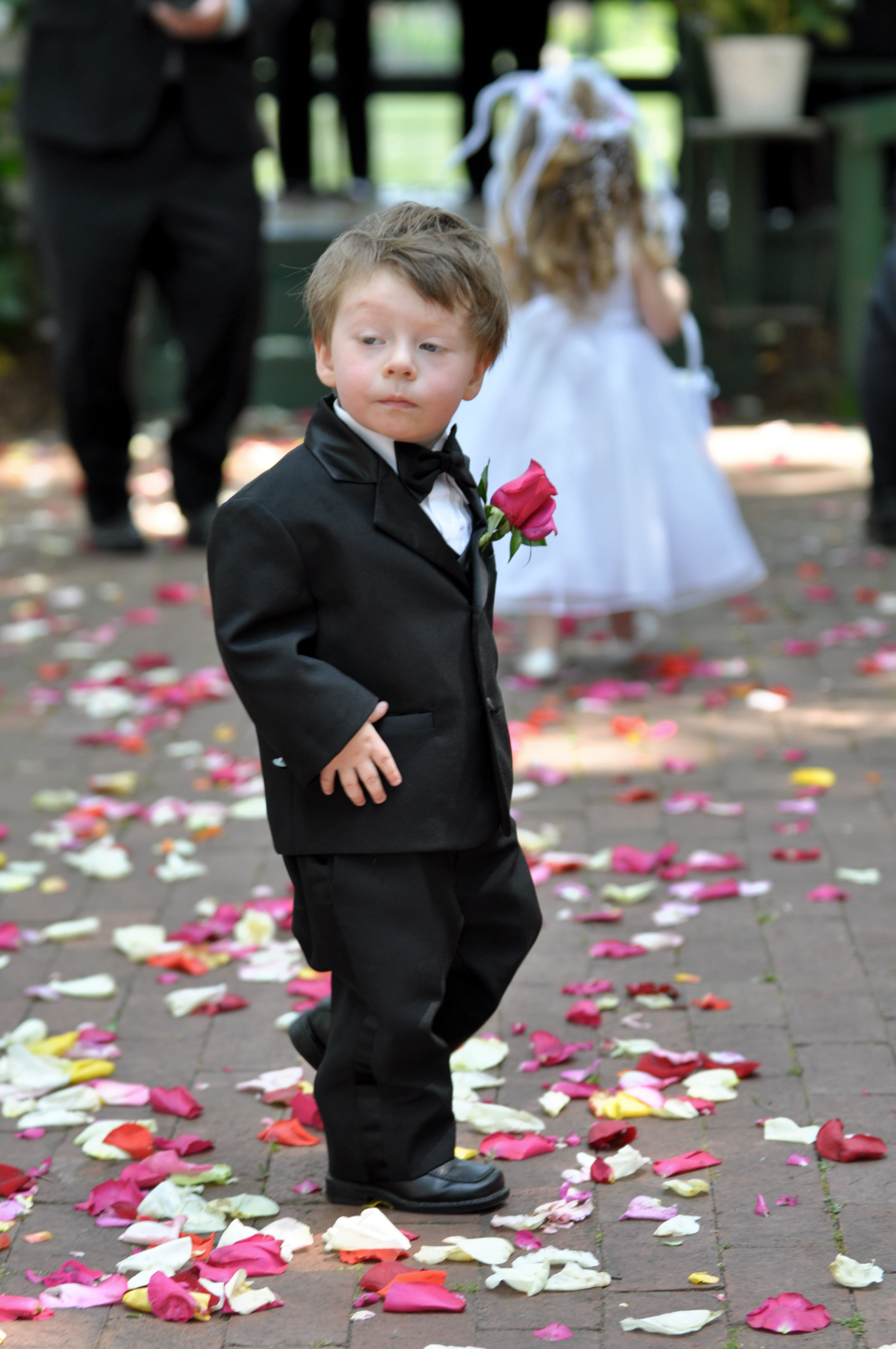 - Dapper ring bearer at Greenfield Lake Wedding in Wilmington, NC. Billy Beach Photography. Affordable wedding.
