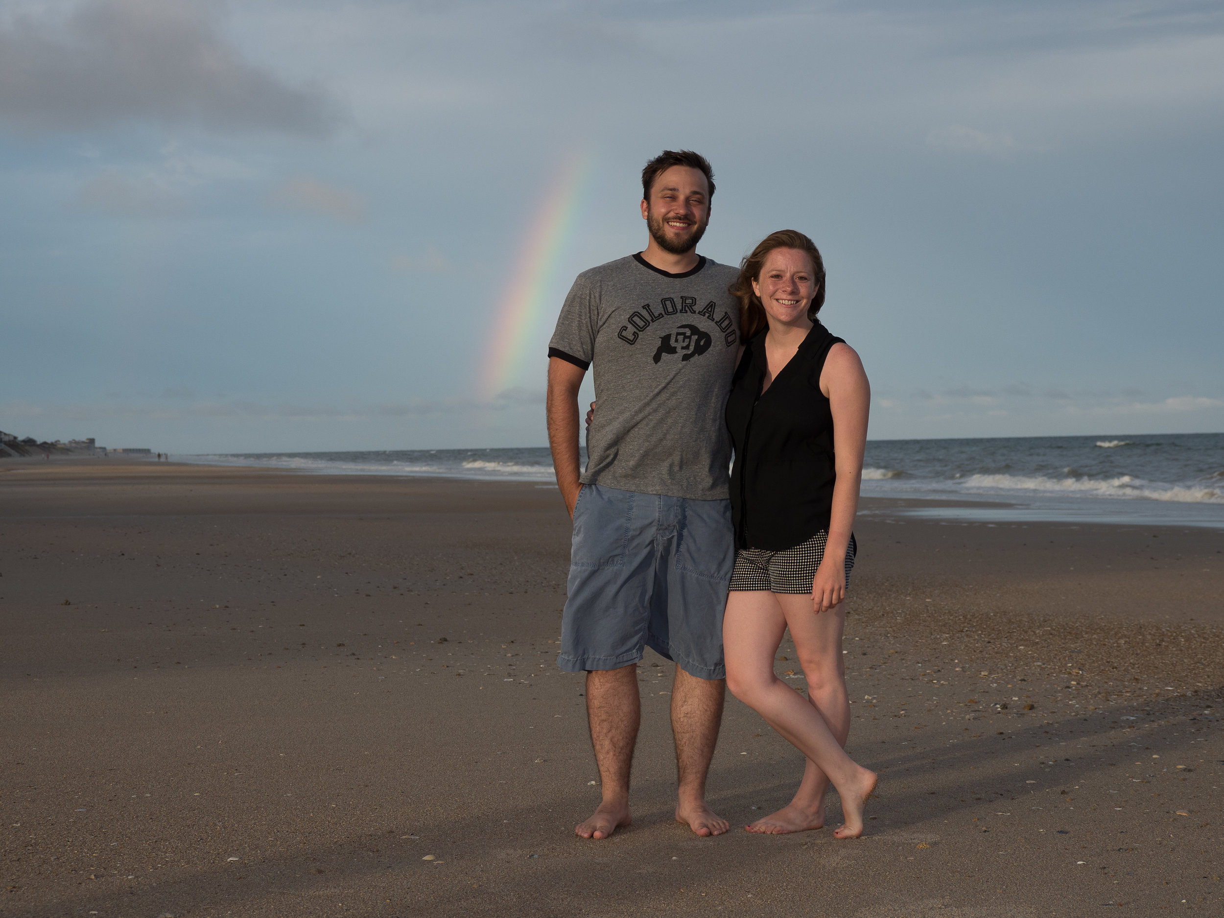 - Rainbow during session on Topsail Island. Billy Beach Photography.