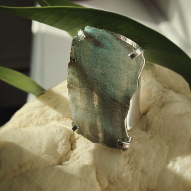 The #stoneofthemonth for March is #labradorite Great tool for #meditation as it helps connect to #intuition & inner voice ✨ #wellness #holistic #lifestyle #natural #home #crystals #homedecor #handmade #jewelry #nj #nyc #sale #march