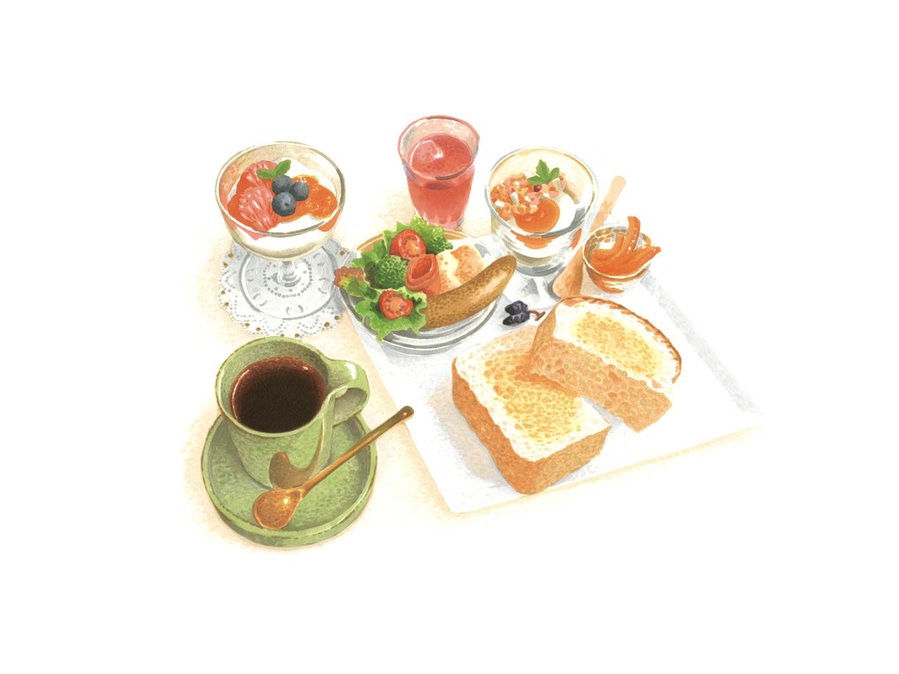 MORNING SET MENU 1,350円