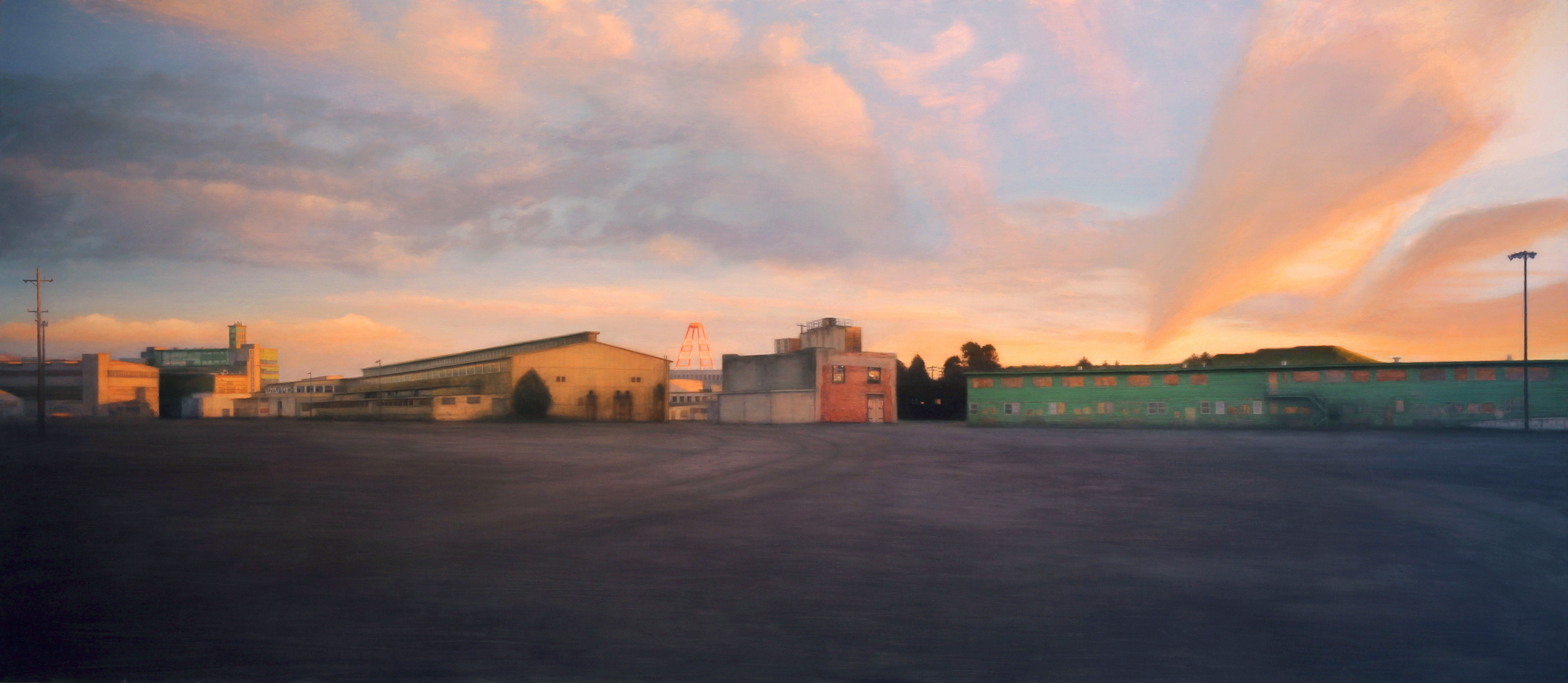 HPS-29, 2010; oil on canvas; 52 x 120 in.