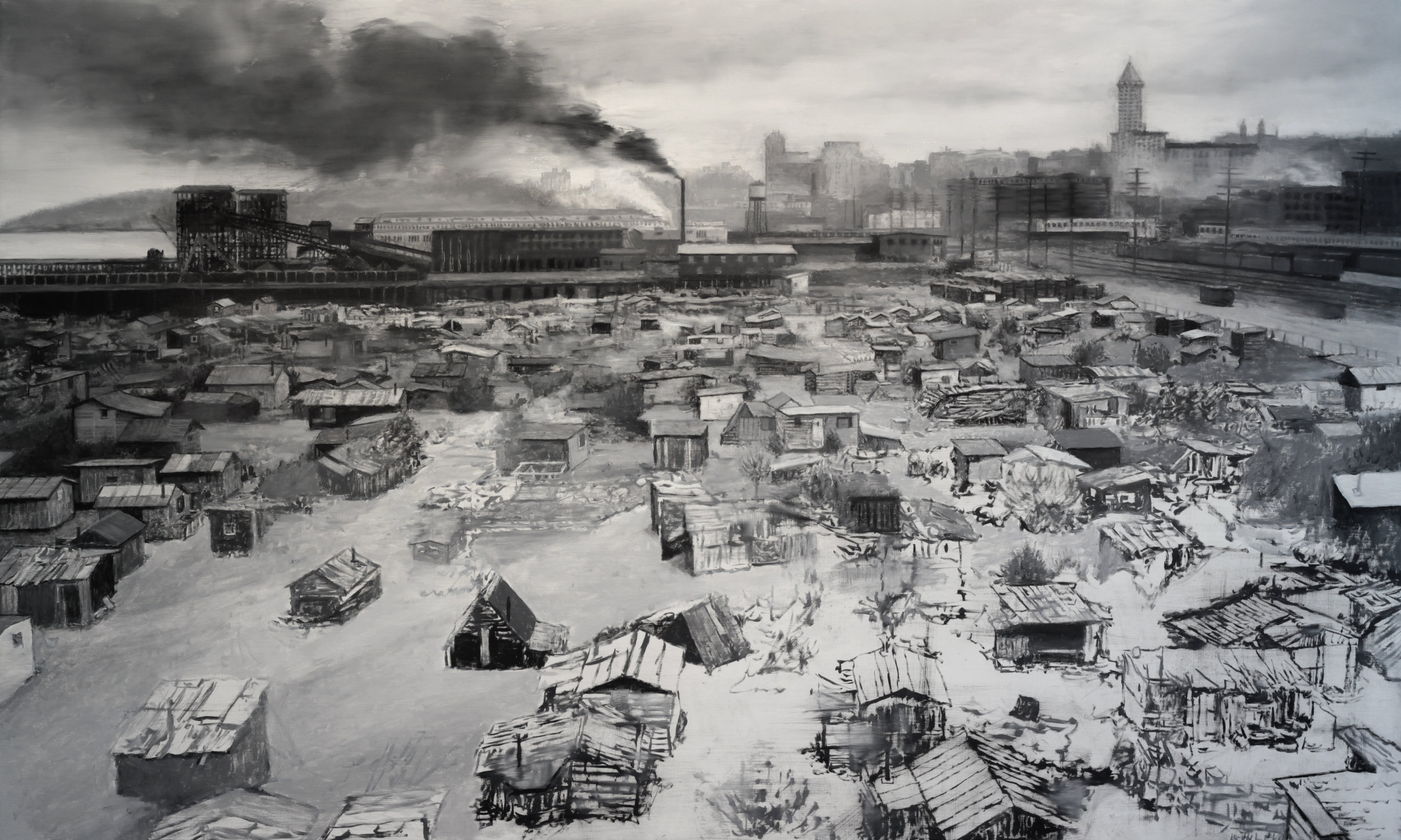 Hooverville, 36 x 60