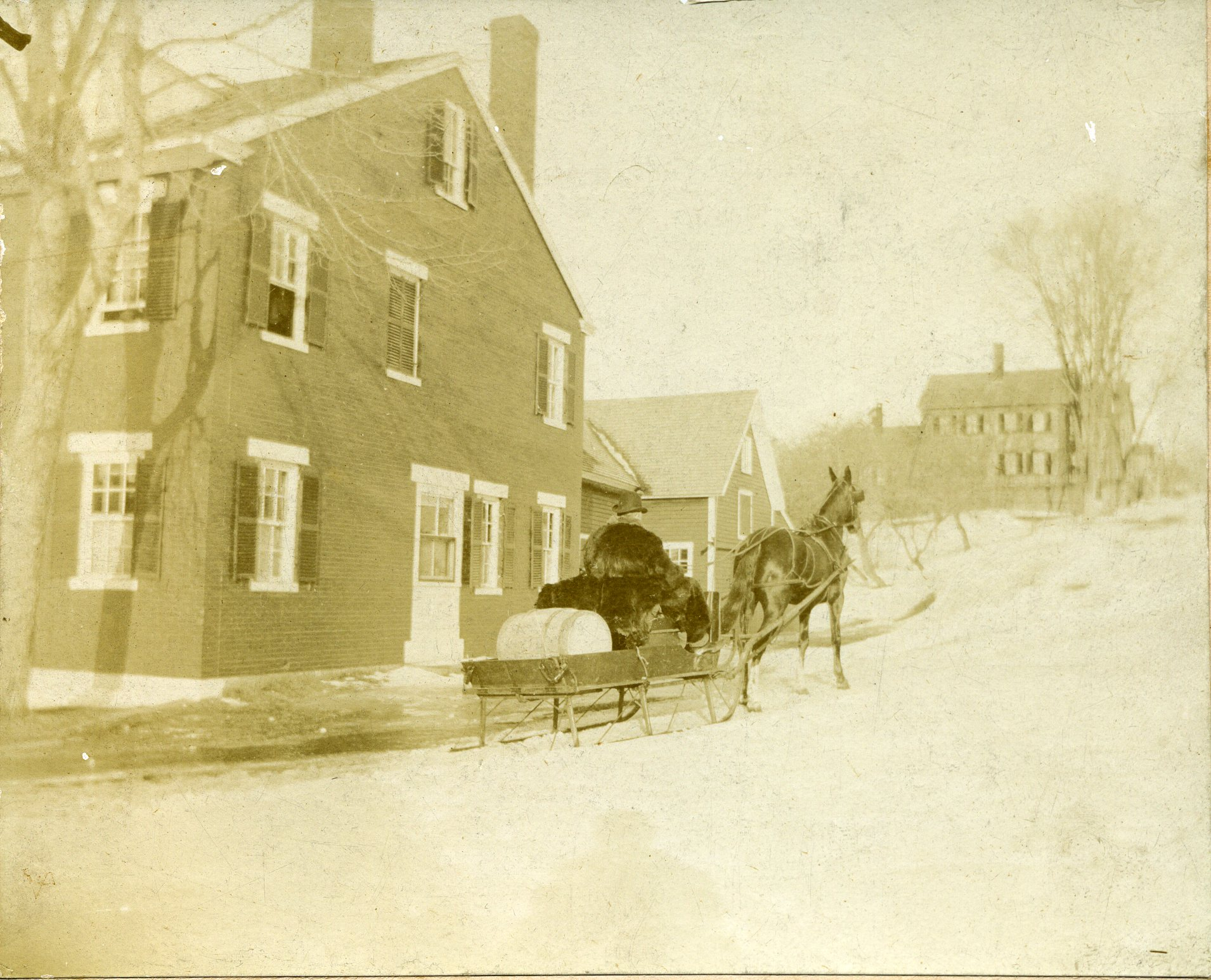 Town of Blue Hill: winter sleigh with horse