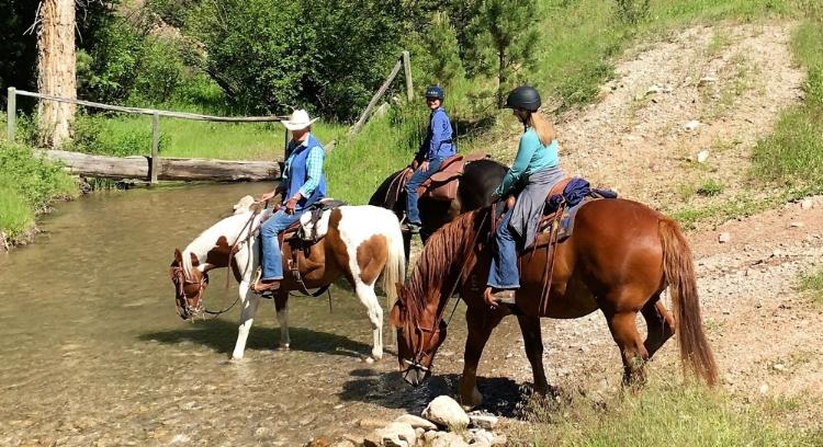 Horseback riding Montana vacation