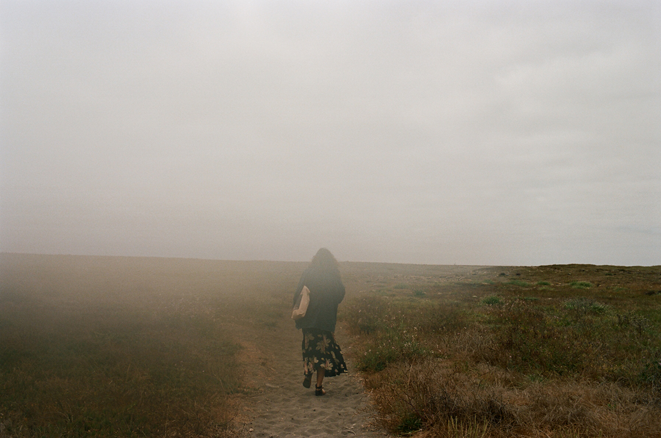 Maximilla walking into fog.jpg