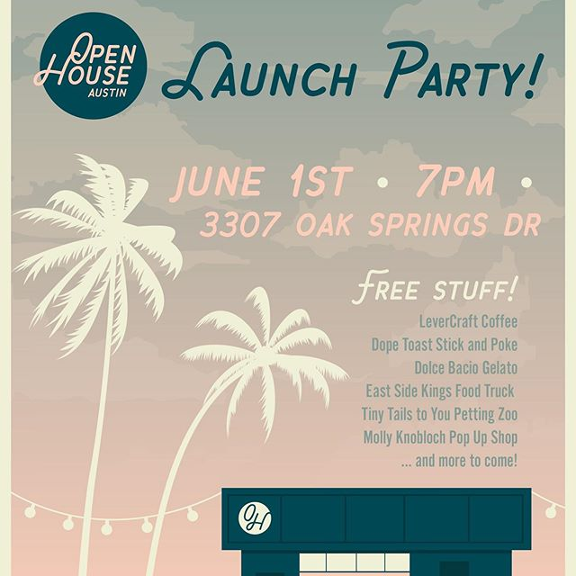 We are SO excited to show you our new space in east Austin we've been working on for the past few months. Open House Austin will officially open June 1st. We know we are connected with a lot of you online...we'd love to meet you in person and hope to see you there. RSVP so we know how much food to provide...and how many shots Kristina's dad should pass out...(the link to Eventbrite is in our profile) See you soon! 💕Kristina & Steph