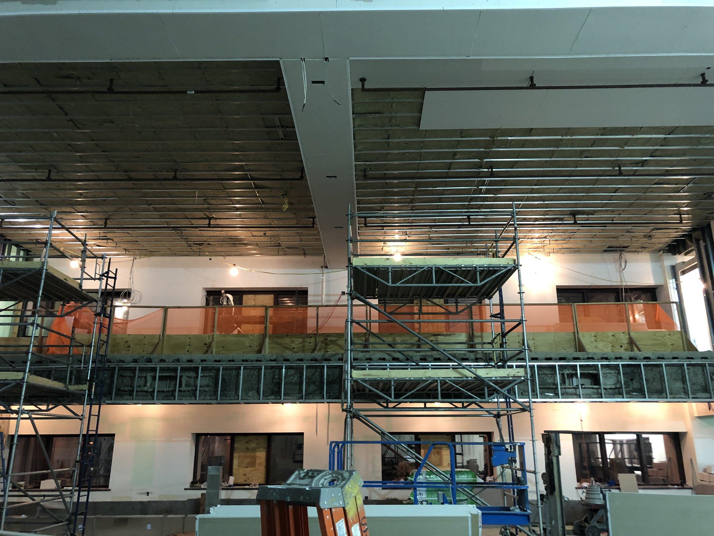 11A ceiling in progress