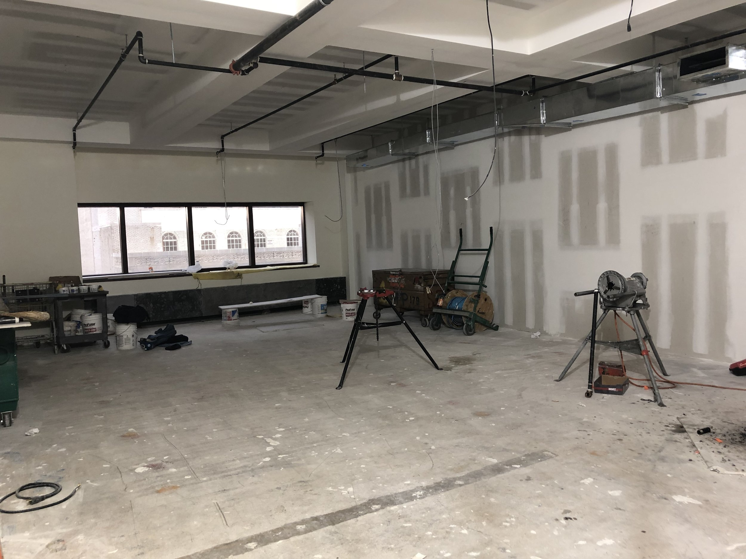 11L in process (sprinklers/HVAC)