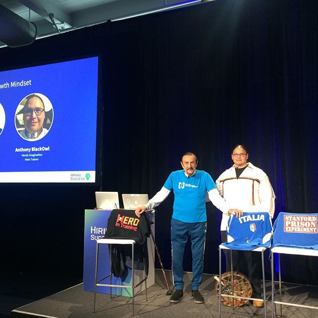 Thanks to all who came to our session with Dr. Zimbardo and HIP trainer Anthony BlackOwl at @smartrecruiters #HIRE19 Conference! Come say hi at our table and learn more about becoming an Ambassador for everyday heroism! (Plus enter our contest for a chance to win a signed book!)