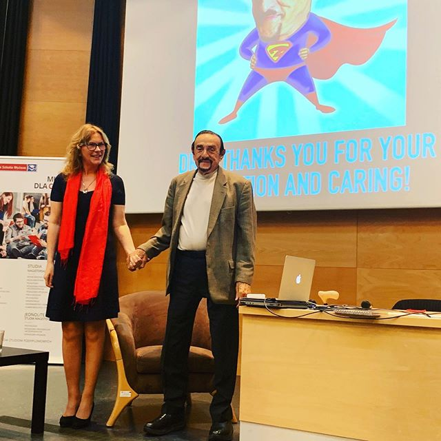 Dr.Zimbardo lecturing on Evil and Heroism at the University of Lower Selesia, Poland!