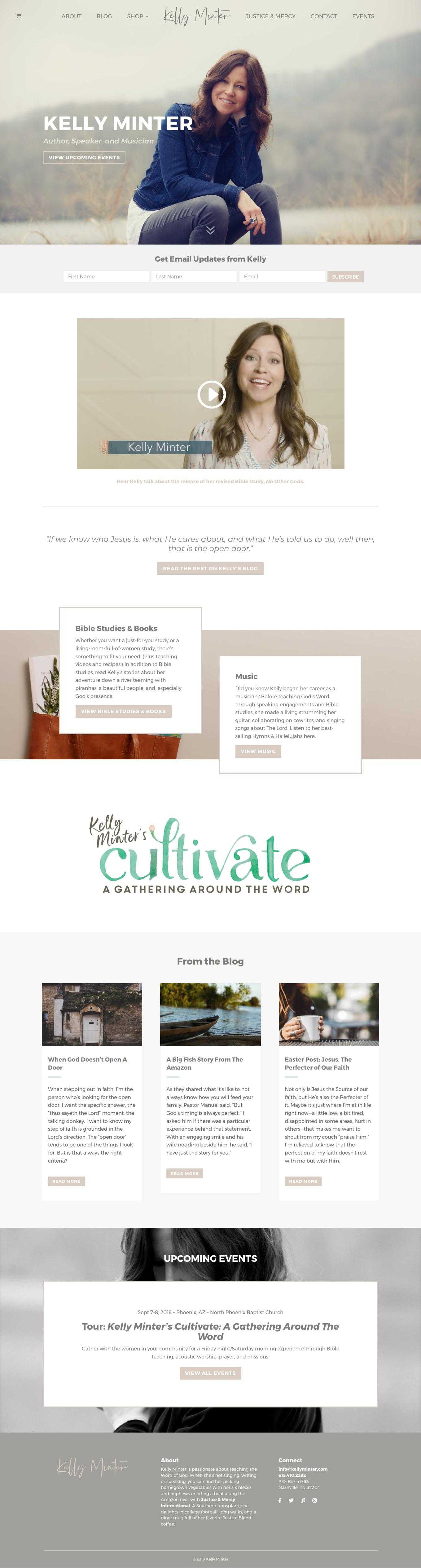Kelly Minter Updated Website