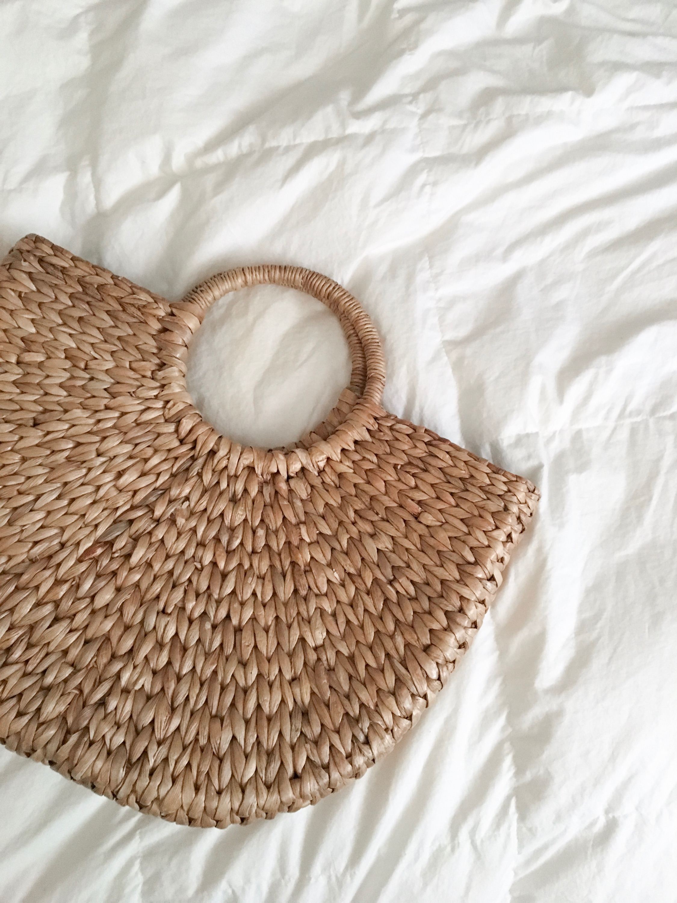 wicker bag from the  garage sale warehouse