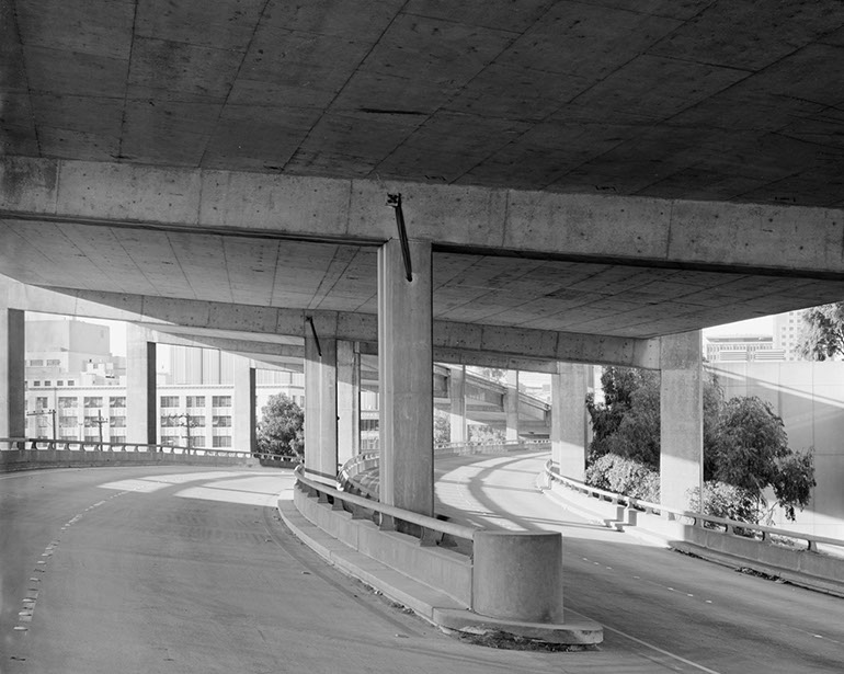 On-ramps to Embarcadero. Embarcadero Freeway San Francisco, 1990