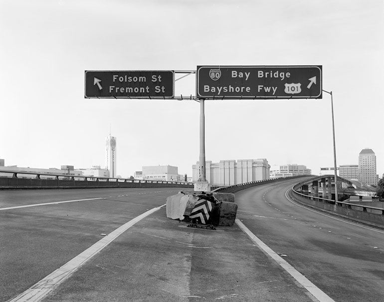 Folsom Street/Bay Bridge Exits - Upper Level. Embarcadero Freeway San Francisco, 1990
