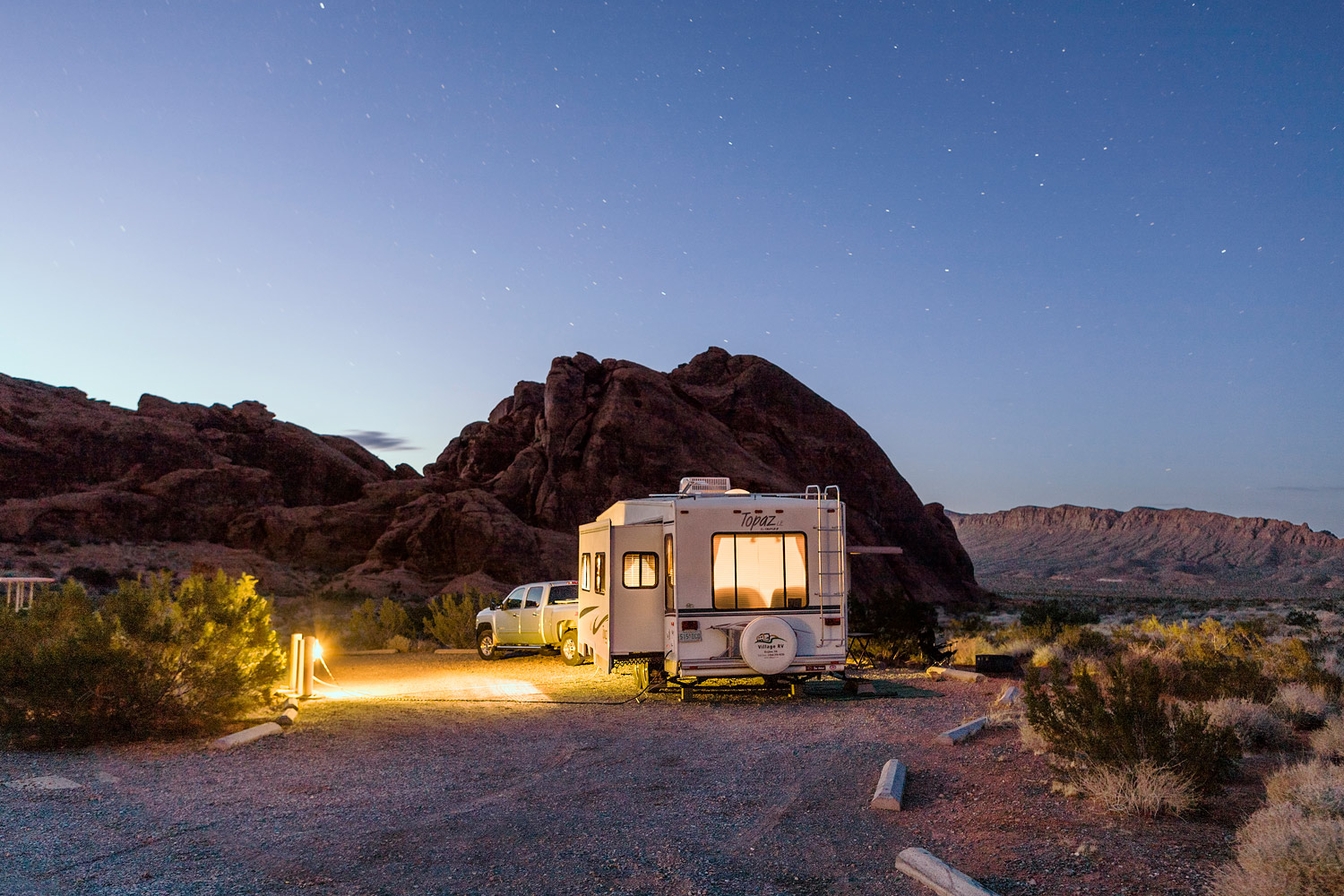 End of Day. Valley of Fire. NV