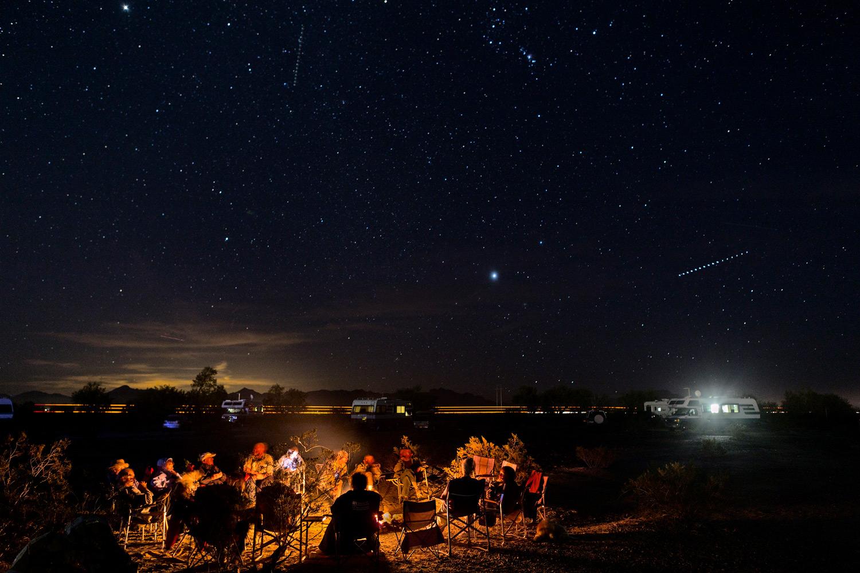Evening Gathering. Quartzsite, AZ.