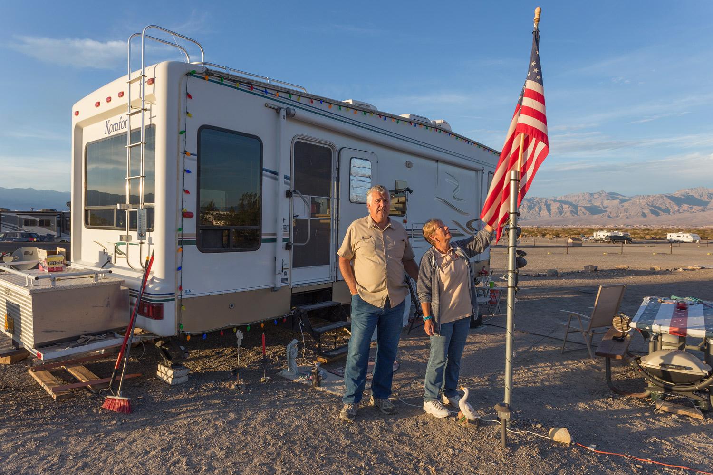 Roger & Elaine, Campground Hosts. Death Valley, CA