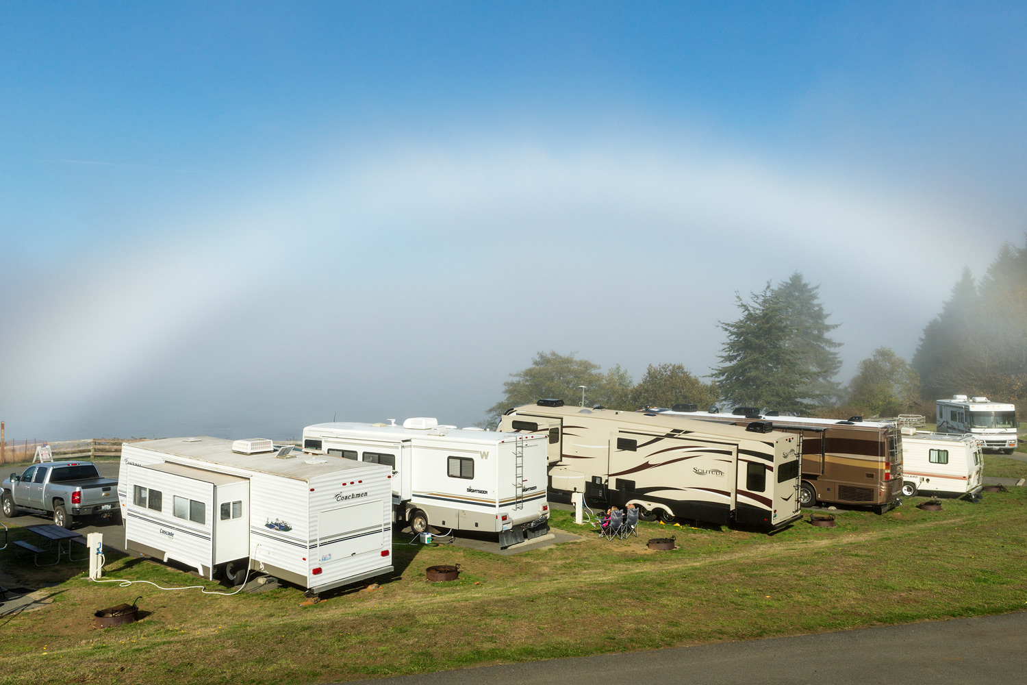 Fogbow (It's a real thing). Juan De Fuca Straits, WA