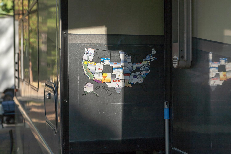 States Visited. WA