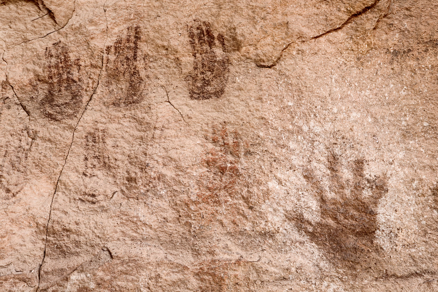 Ancient Handprints. Canyonlands National Park, UT