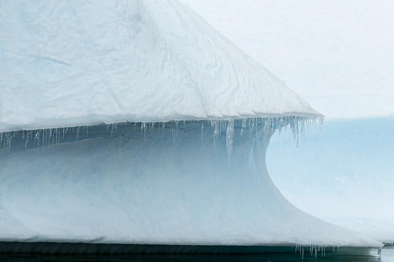 Iceberg, icicles. Arctowski Peninsula, Antarctica