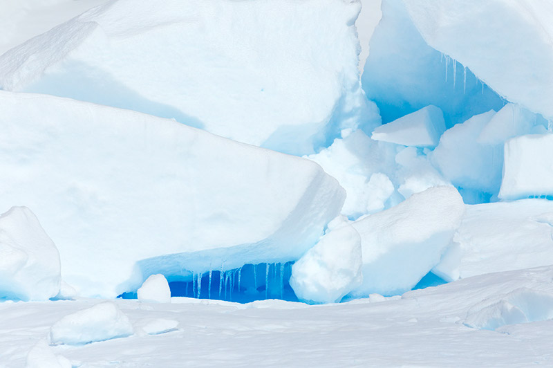Glacial Jumble. Dallmann Fjords, Antarctica