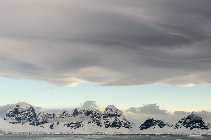 Lenticular Clouds Over Anvers Island, Antarctica