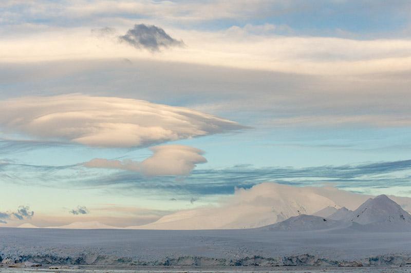 Cloud Formations Over Anvers Island, Antarctica