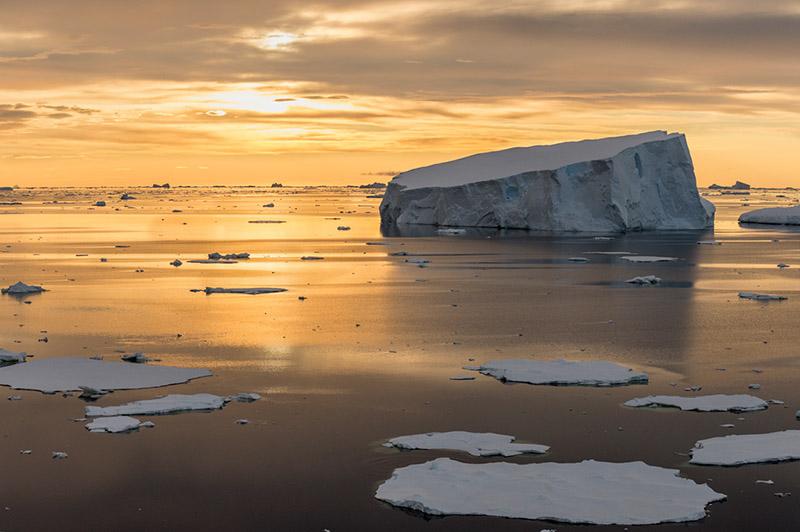 Sea Ice off Anvers Island. Anvers Island, Antarctica