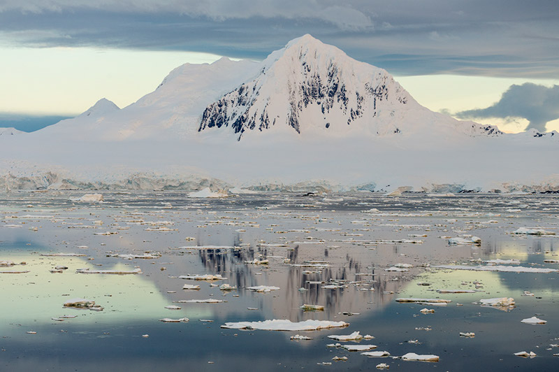 Mount William and Reflections. Anvers Island, Antarctica