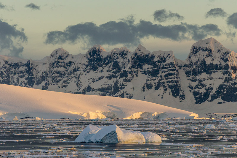 Anvers Island Mountains and Glaciers. Antarctica