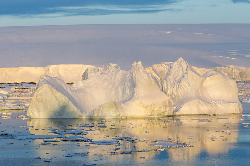 Icebergs and Reflections. Anvers Island, Antarctica