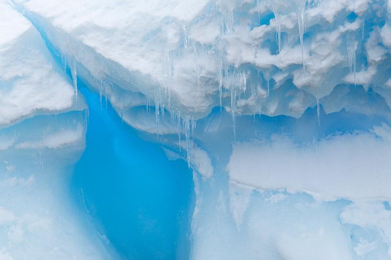 Glacial Ice Detail. Dallmann Fjords, Antarctica