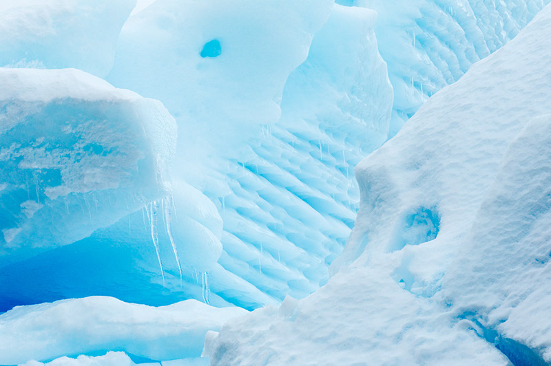 Glacial Ice Abstract. Dallmann Fjords, Antarctica