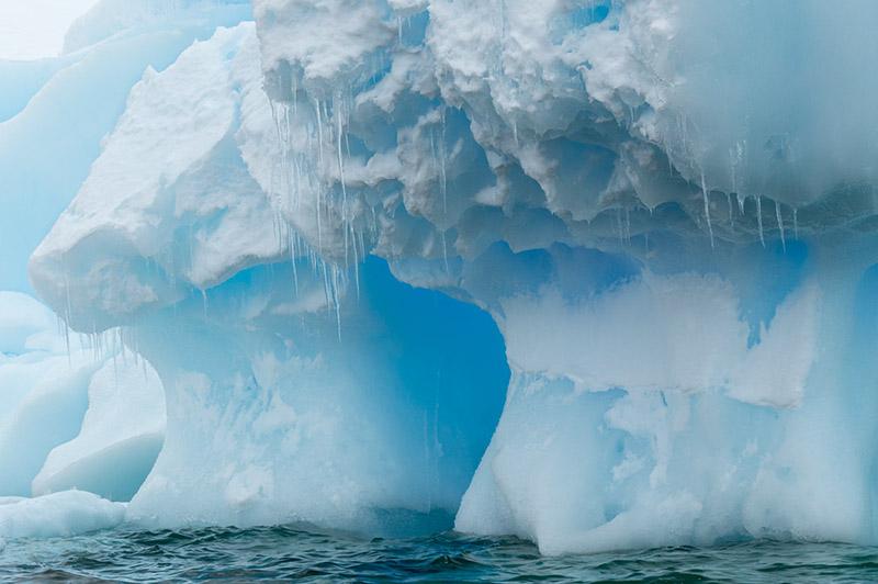Edge of Iceberg. Dallmann Fjords, Antarctica