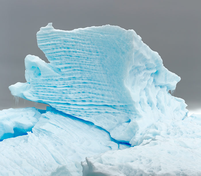Striated Iceberg. Dallmann Fjords, Antarctica