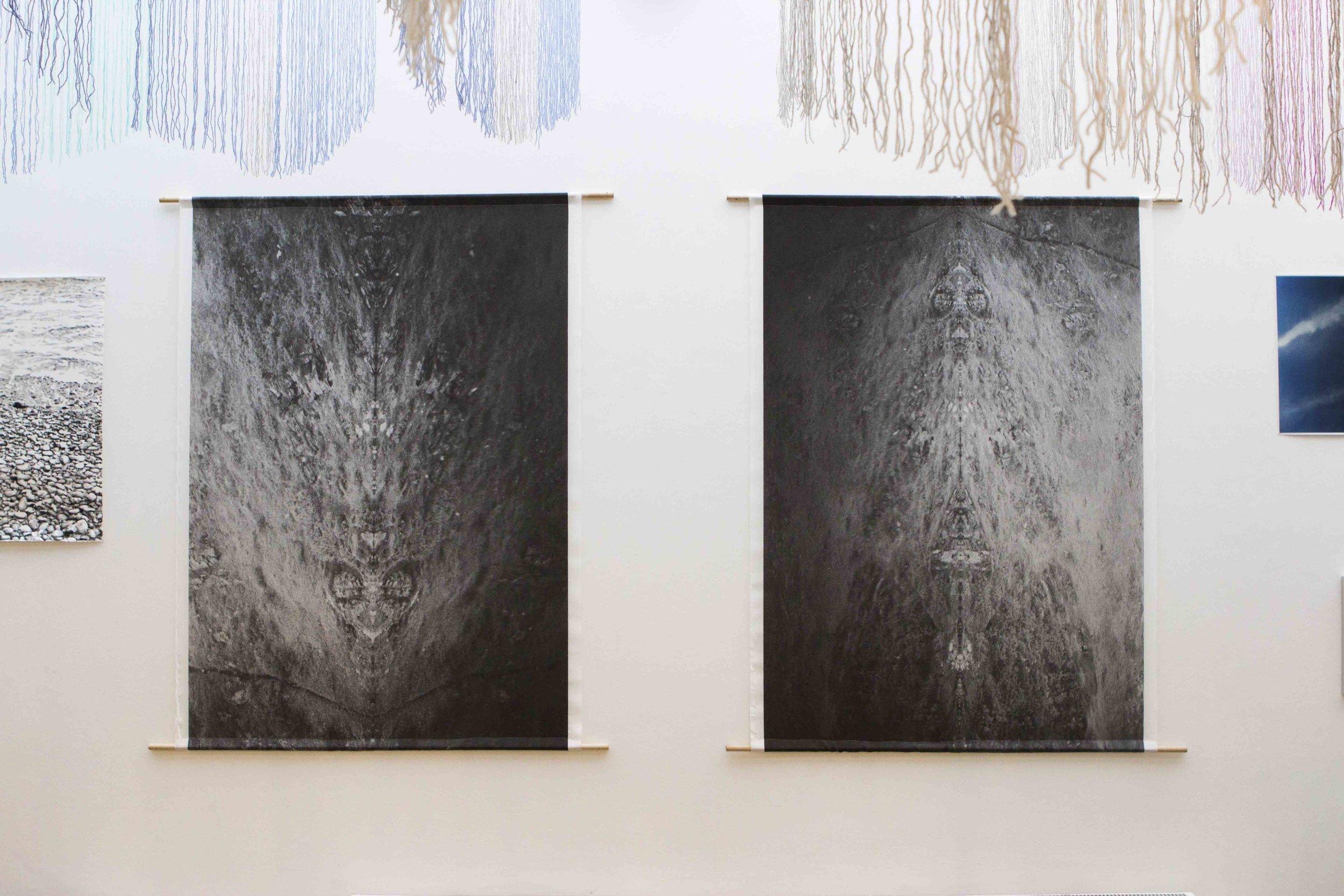 RESTLESS SIEDI, Olivia Kathigitis,  2018. photo prints on silk.  Arctic 70ºN