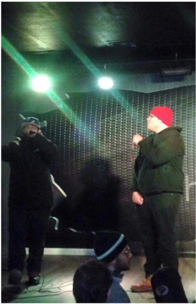 "VentriceIV w/ Dru Gunn$ performing at ""Hashtag Bar"" in Staten Island, N.Y."